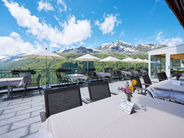 Terrace at the hotel in Hochgurgl