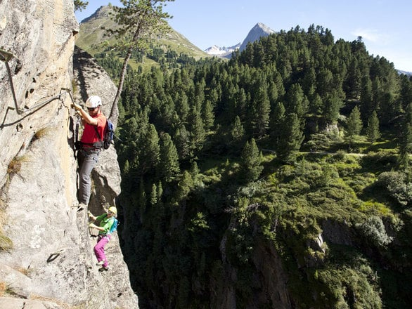 Climbing in the Tyrolean Alps