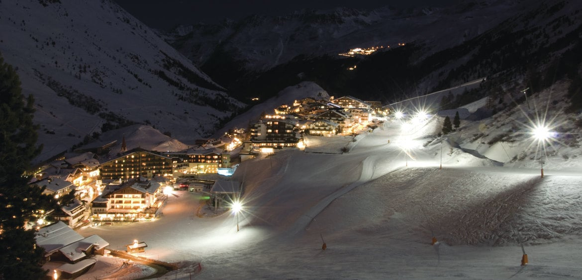 Night skiing on the slopes of Obergurgl and Hochgurgl
